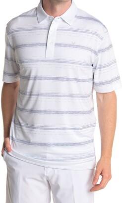 Callaway Golf Stripe Print Short Sleeve Polo