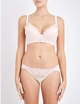 Mimi Holliday Sugared almond lace and mesh shoulder bra
