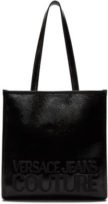 Versace Black Patent Logo Tote