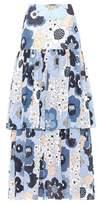 Chloé Printed cotton seersucker skirt