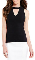 Antonio Melani Tony Choker Neck Sleeveless Solid Knit Top