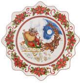 Villeroy & Boch Santa Flight Porcelain Pastry Plate