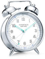 Tiffany & Co. Everyday Objects nickel twin bell alarm clock.
