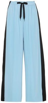 Roland Mouret Haven Striped Plisse-jersey Wide-leg Pants