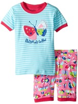 Hatley Pretty Butterfly Short Pajama Set Girl's Pajama Sets
