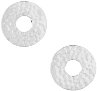 Ippolita Classico Sterling Silver Hammered Circle Clip-On Earrings