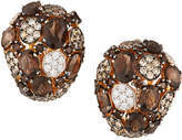 Roberto Coin 18k Rose Gold Smoky Quartz Mixed-Diamond Earrings