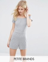 Missguided Petite Jersey Bardot Romper