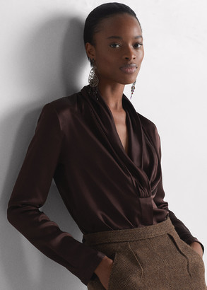 Ralph Lauren Kimberly Silk Satin Blouse