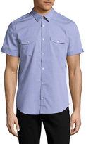 Calvin Klein Short Sleeve Printed Cotton Shirt
