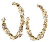 Alexis Bittar 18K Diamond, Sapphire & Quartz Hoop Earrings