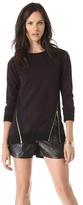 Rebecca Taylor Croc Zip Pullover