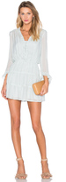Hoss Intropia Long Sleeve V Neck Mini Dress