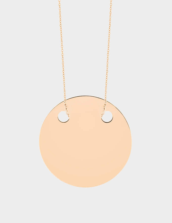 ginette_ny Baby Disc 18-karat rose gold necklace