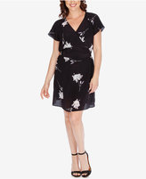 Lucky Brand Silk Printed Faux-Wrap Dress