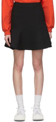 Victoria Victoria Beckham Black Peplum Hem Miniskirt