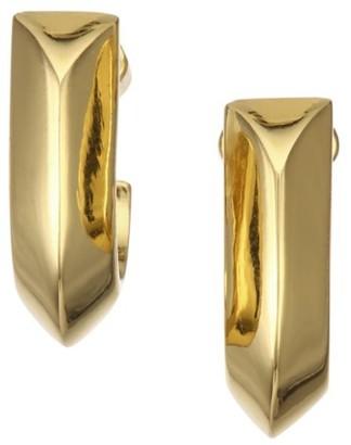 Kate Spade Raise the Bar Goldplated Huggie Earrings