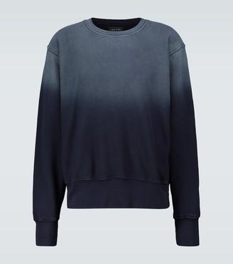LES TIEN Dip-dyed cotton sweatshirt