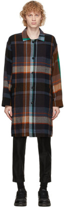 ts(s) tss Multicolor Plaid Shirt Coat