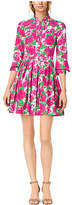 Michael Kors Peony-Print Cotton-Poplin Shirtdress