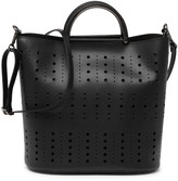Persaman New York Christy Gold Perforated Tote