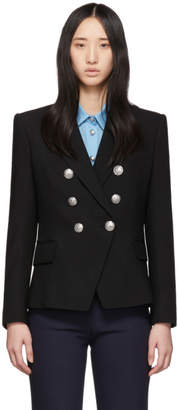 Balmain Black Six-Button Blazer