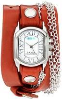 La Mer Women's 'Silver Bubble Chain' Quartz Tone and Leather Watch, Multi Color (Model: LMCW2016367)