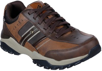 Skechers Henrick Delwood Leather Lace Up Shoes - Brown