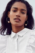 Urban Outfitters 18k Gold-Plated Brass Sphere Hoop Earring