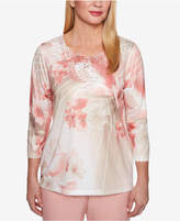 Alfred Dunner Petite Lace-Trim T-Shirt
