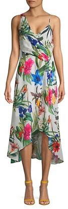 Parker Floral Asymmetric High-Low Dress