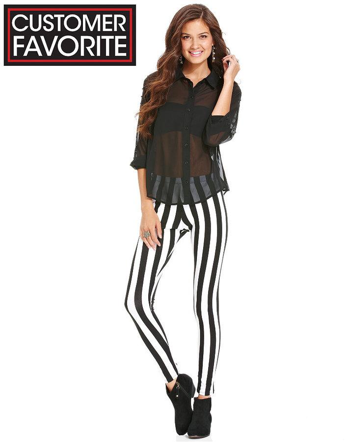 Material Girl Juniors Pants, Striped Leggings