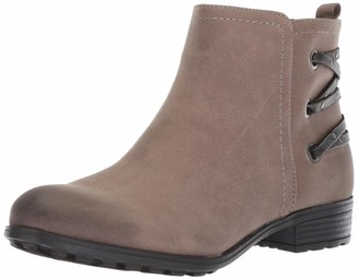 White Mountain Shoes Riley Women's Bootie Stone/Sueded/FAB 6 M