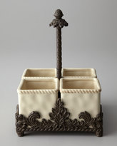 GG Collection G G Collection Ceramic Flatware Caddy