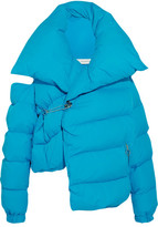 Marques Almeida Marques' Almeida - Cold-shoulder Quilted Shell Down Jacket - Blue