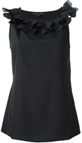 Walter Voulaz sleeveless ruffle top
