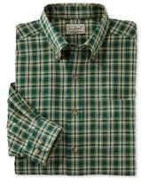 L.L. Bean Wrinkle-Free Twill Sport Shirt, Traditional Fit Plaid