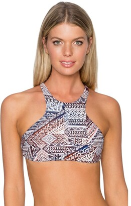 Sunsets Women's Hollywood High Neck Bikini Top with Removable Cups Printed