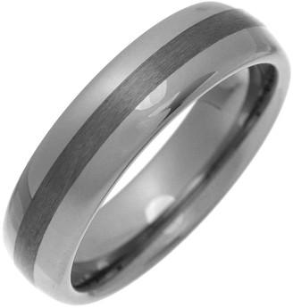 Theia Nickel Free Tungsten Court Shape Matt Centre 6mm Ring - Size N