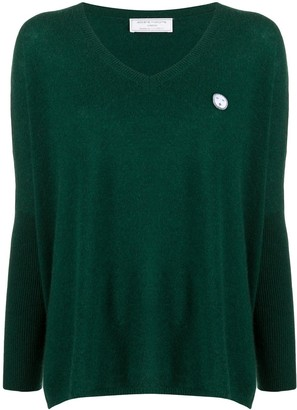 Societe Anonyme Logo-Patch Flared Sweater