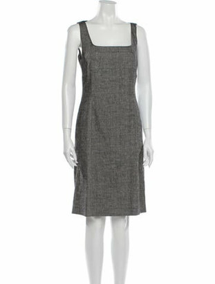 Narciso Rodriguez Linen Knee-Length Dress w/ Tags Grey