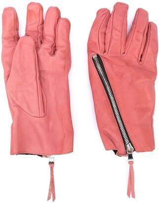 The Viridi-anne Zip Detail Textured Gloves