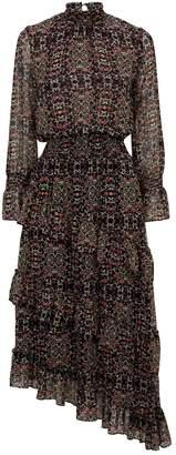MISA Los Angeles Rania Asymmetric Midi Dress