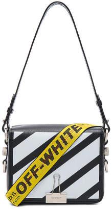 Off-White Off White Diagonal Flap Bag in Black & White   FWRD