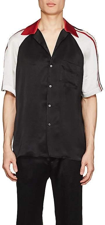 Gucci Men's Logo-Detailed Silky Twill Bowling Shirt