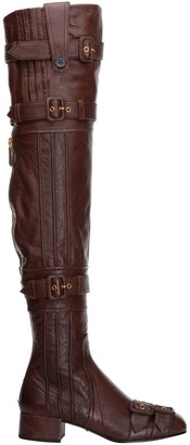 Prada Over-The-Knee Strapped Boots