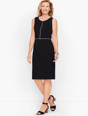 Talbots Italian Luxe Knit Tipped Sheath Dress