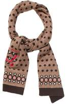 Jean Bourget Girls' Polka Dot Embroidered Scarf w/ Tags