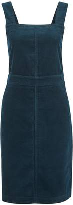 Dorothy Perkins Womens **Tall Teal Cord Pinafore Cotton Dress