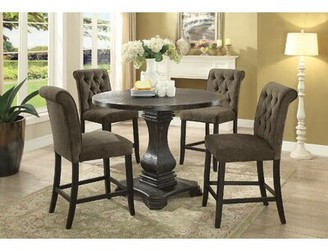 """Ophelia & Co. Barner Walnut Solid Wood Dining Table Color: Black, Size: 36"""" H x 48"""" W x 48"""" D"""